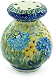 Polish Pottery 4-inch Parmesan Shaker made by Ceramika Artystyczna (Spring Garden Theme) Signature UNIKAT + Certificate of Authenticity