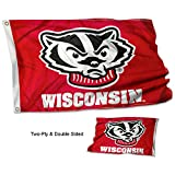 College Flags and Banners Co. Wisconsin Badgers Bucky Double Sided Flag
