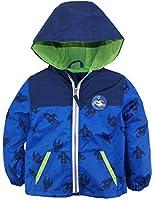 iXtreme Baby Boys Spacecraft Print Jacket Mesh Lined Windbreaker Spring Coat, Navy, 3-6 Months