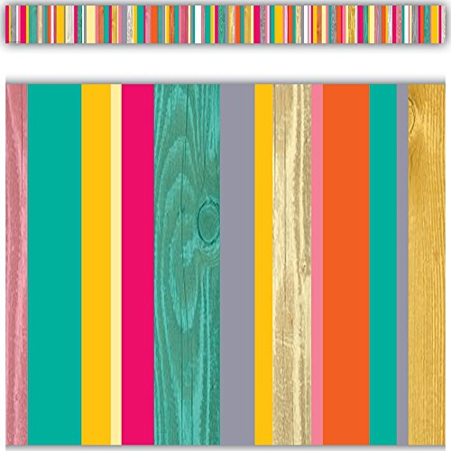 Teacher Created Resources 2658 Tropical Punch Straight Border Trim - Classroom Bulletin Board Decorations