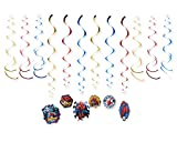 American Greetings, Spider-Man Party Supplies, Hanging Party Decorations, 12-Count