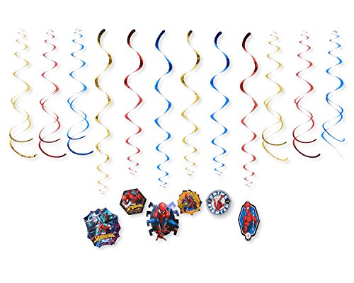 American Greetings, Spider-Man Party Supplies, Hanging Party Decorations, 12-Count -