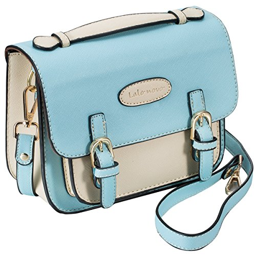 Mini 8 Instant Camera Accessories Case - Lalonovo Retro Vintage PU Leather Bag for Fujifilm Instax Mini 8/ Mini 7s/ Mini 25/ Mini 50s/ Mini 90/ Instant Film Camera with Shoulder Strap (Blue) (Fuji Instax Wide Camera Case)