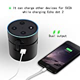 Battery Base for 2nd Generation Echo Dot, niceEshop(TM) Portable Charger 10000mAH with Ultra -Compact, High -speed Charging Power Bank for iphone ,Samsung Galaxy and More