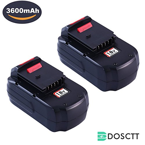 3.6Ah Ni-Mh PC18B Battery for Porter Cable 18V Battery PCC489N PC18B PC18BLEX PCMVC PCXMVC Cordless Tools Drill Batteries 2 (18v Lithium Ion Battery)