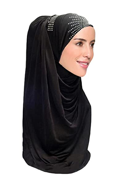 83856823d4c82 Hana's Womens 1 piece Layered Hijab Scarf