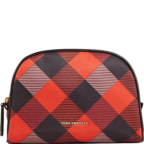 Medium Dry Sherry (Vera Bradley Medium Zip Cosmetic- Retired Prints (Buffalo Check Burnt Orange)