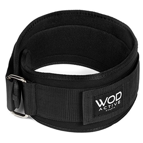 Weightlifting Belt from WodactiveSports Low Profile Easy to use back support for WODs ,Olympic lifts, and Powerlifting