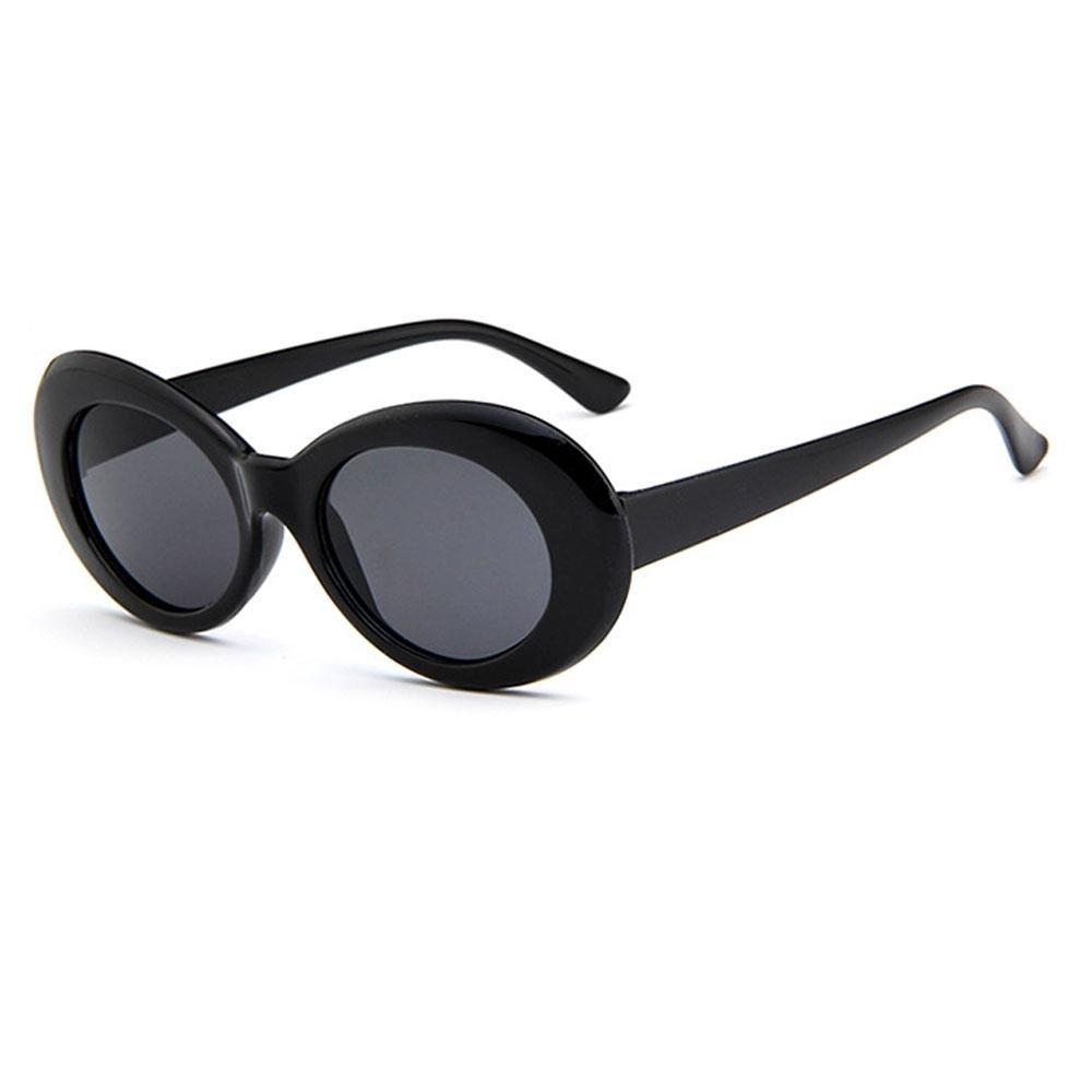 Clout Sunglasses Oval Mod Retro Thick Frame Rapper Eyewear Supreme Glasses Cool Sunglasses Alien Oval Sunglasses for Women Girls Men Boys Unisex 2018 Aolvo