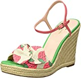 Kate Spade New York Women's Janae Wedge Sandal, Multicolor Strawberry Print, 9 Medium US