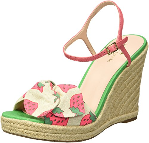 Kate Spade New York Women's Janae Wedge Sandal, Multicolor Strawberry Print, 6 Medium US by Kate Spade New York