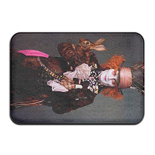 VIND Alice In Wonderland Hatter Happy Halloween Soft Doormats / Entrance Rug Floor Mats