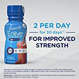 Ensure Enlive Advanced Nutrition Shake with 20 grams of high-quality protein, Meal Replacement Shakes, Strawberry, 8 fl oz (4 Count)