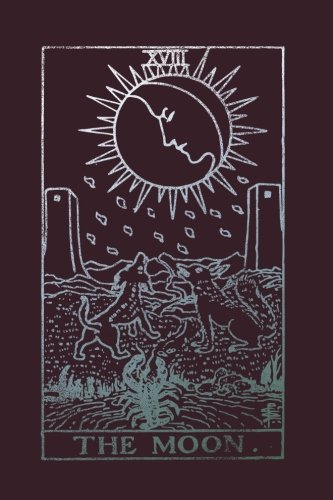 The Moon: Tarot Card Notebook Raisin Black 175-Page College-Rule Journal (Tarot Card Notebooks) (Volume 3) ()