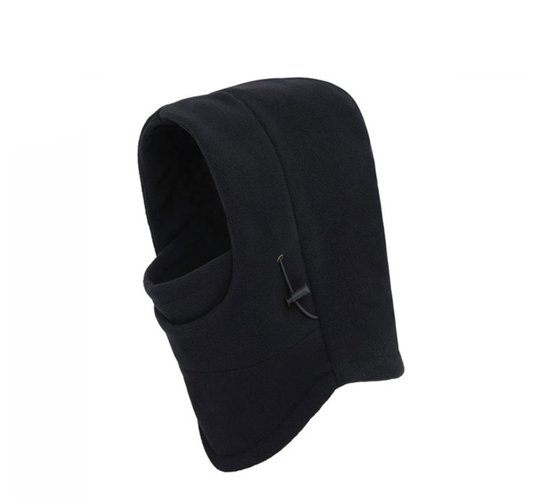 Noga Outdoor Warm Fleece Hat Masks Ear Warm Cap Winter Cycling Bib Hat (Black)