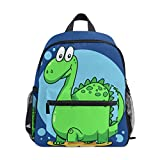 Dinosaur Children's Schoolbag Girls Backpack Boys Book Bag for 3-8 Years Old Kids Double Shoulder Blue