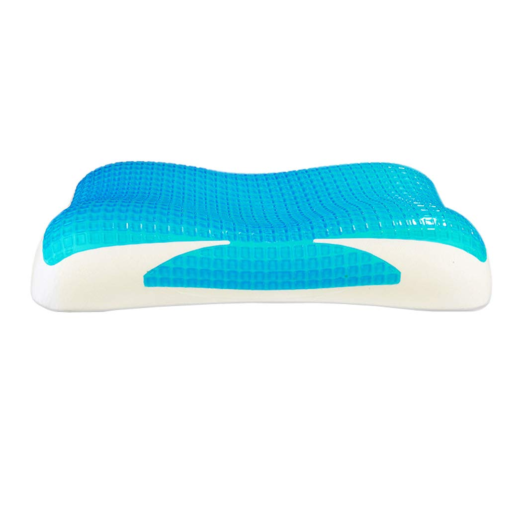 Comfort Therapy Memory Bed Pillow, Reversible Side, Detachable Washable Hypoallergenic Protective Cover, Back Pain Prevention And Relief