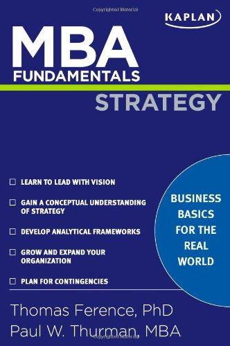 MBA Fundamentals Strategy (Kaplan Test Prep)