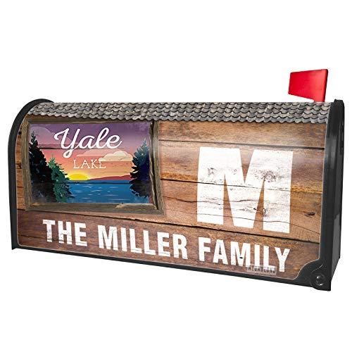 NEONBLOND Custom Mailbox Cover Lake Retro Design Yale