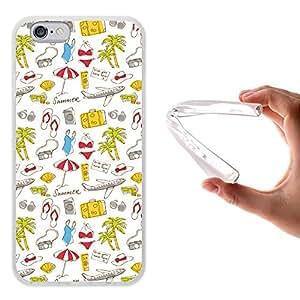 Funda iPhone 6 6S, WoowCase [ iPhone 6 6S ] Funda Silicona Gel Flexible Vacaciones, Carcasa Case TPU Silicona - Transparente