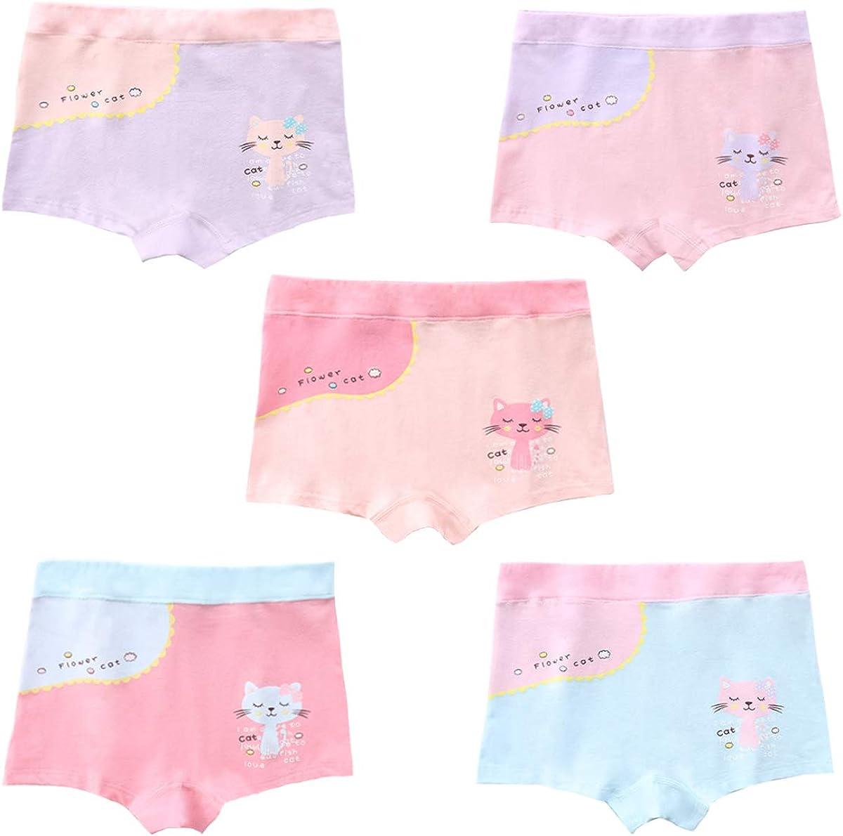 LOREZA /® 5//10 M/ädchen Baumwolle Strass /& Glitzer Slips Pantys Unterhosen Unterw/äschen