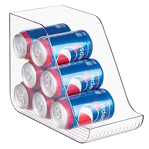mDesign Large Standing Pop/Soda Can Dispenser Storage Organi