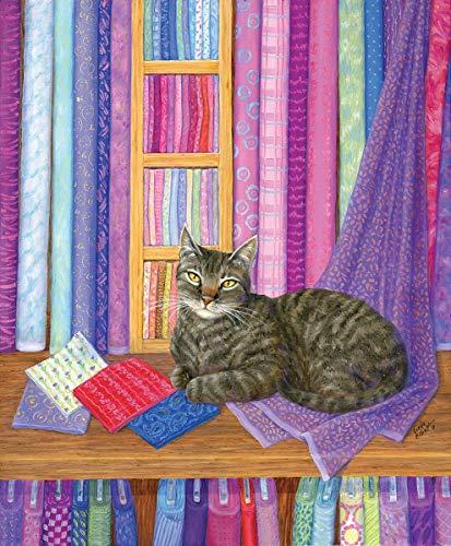 Sunsout 2019 Quilt Shop Playmate by Artist Linda Elliot 1000 Piece Cats Jigsaw ()