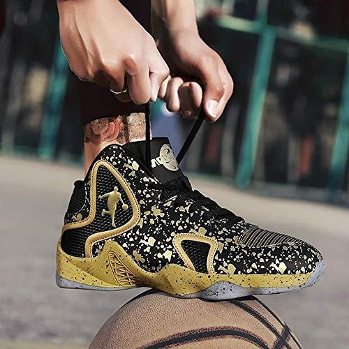 Fhtd Scarpe Resistente Autunno 2019 High Primavera Sneakers Da Gold Nuovi Antiscivolo top All'usura Basket Uomini rqrxSZFw