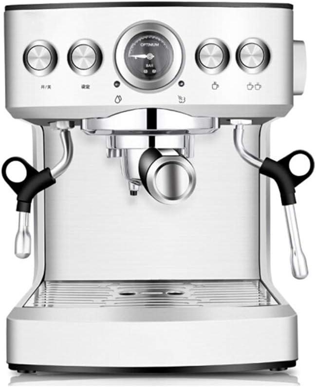 QZKFJ Máquina de café Expresso, con Leche vaporizador Cafetera con vaporizador for Latte, Cappuccino, Copa Individual Cafetera Compatible con Vapor Bomba Cafetera, hogar, Comercial, Partido: Amazon.es: Hogar