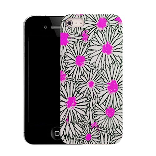 Mobile Case Mate iPhone 5c clip on Dur Coque couverture case cover avec Stylet - pink luring daisy Motif