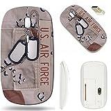 MSD Wireless Mouse White Base Travel 2.4G Wireless