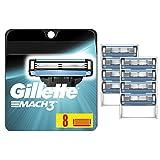 Gillette Mach3 Mens Razor Blades, 8 Blade Refills