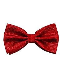 Alizeebridal Men's Formal Solid Adjustable Bow Tie Wine Red
