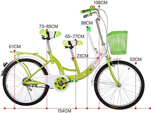 Kuan 28 Pulgadas de Padre-Hijo Familia Bicicleta tándem Viaje para Bicicleta: Amazon.es: Hogar