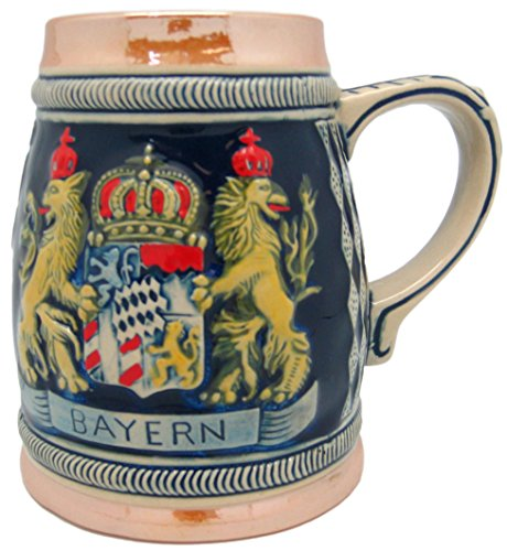 German Bayern Coat of Arms Engraved Beer Stein