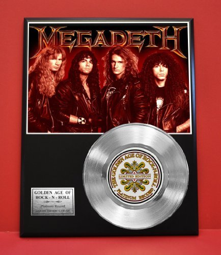 Megadeth LTD Edition Platinum Record Display - Award Quality Music Memorabilia - from Gold Record Outlet
