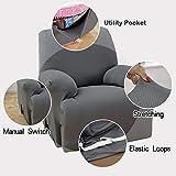 MarCielo Sofa Stretch Slipcover Recliner, 1-Piece