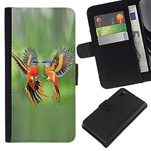 KingStore / Leather Etui en cuir / Sony Xperia Z3 D6603 / Orange