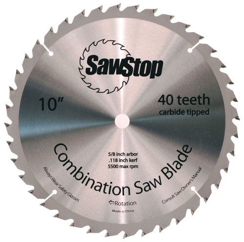 SawStop CNS 07 148 40 Tooth Combination 10 Inch