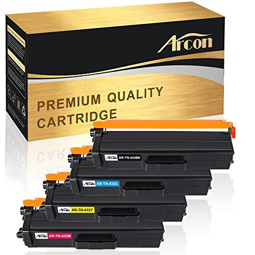 - Arcon TN-433 High Yield Toner Cartridge Compatible Brother HL-L8360CDWT HL-L8360CDW HL-L8260CDW MFCL8900CDW MFCL8610CDW MFCL9570CDW MFC-L8900CDW MFC-L8610CDW Color Laser All-in-One TN433 TN-431