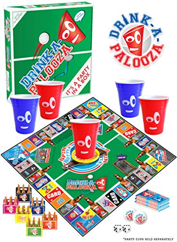 DRINK-A-PALOOZA Board Game: Old-School + New School Drinking Games