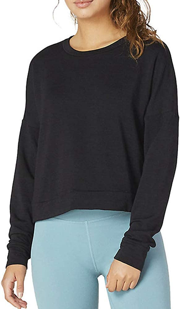 Beyond Yoga Womens Color Streak Cropped Pullover