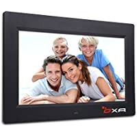 OXA 7-Inch 4G HD Digital Photo Frame with Built-in Storage MP3 Video Player Wall Mountable with Remote Control (Black)