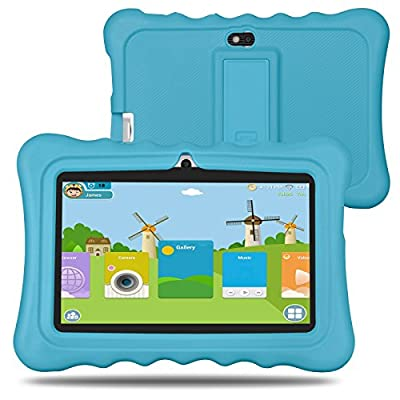BM Kids Tablet 8G 512MB android 4.4 7 inch iWawa Pre-Installed with Games App and Audio Book (Blue)