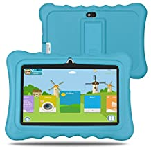 BM Kids Tablet 8GB 1GB 7 Inch Quad Core Android 5.1 HD 1024x600 Resolution (Blue)
