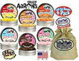 Crazy Aaron's Thinking Putty SCENTSory Tins Deluxe Gift Set Bundle Featuring Pizzarazzi, Gumballer, Chocolatta, Snackerjack, Scoopberry, Orangesicle & Bonus Matty's Toy Stop Bag - 6 Pack (.88 oz each)