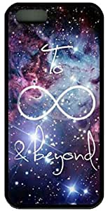 Galaxy iPhone 5 case, iphone 5 case, Infinity iphone 5s case, Cover skin case for iphone 5 5s cases - TPU black