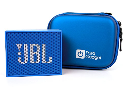 DURAGADGET Blue Hard Shell Carry Case With Carabiner Clip For The New JBL Go Portable Speaker