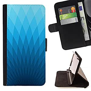 Jordan Colourful Shop - wallpaper blue light triangle geometrical art For Samsung Galaxy S3 Mini I8190Samsung Galaxy S3 Mini I8190 - < Leather Case Absorci????n cubierta de la caja de alto impacto > -