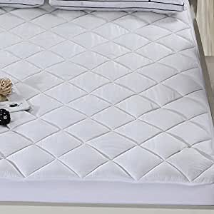 Silky Soft Bamboo Fitted Topper, Twin Mattress Pad by Royal Hotel